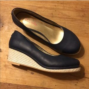 McCauley navy blue wedge heels size 9 1/2